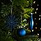 Assortiment de décorations de Noël bleues, 50 pièces