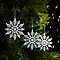 Flocon brillant blanc (12 pièces)