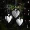 Coeur argenté (6 pièces)