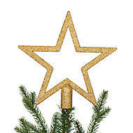 Cimier étoile 20 cm doré