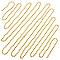 Guirlande de perles 5 m dorée