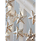Guirlande lumineuse étoile métal 16 LED blanc chaud, piles