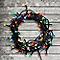 Guirlande lumineuse câble vert 120 LED multicolore, électrique