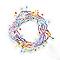 Guirlande lumineuse câble clair 120 LED multicolore, électrique