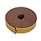Joint caoutchouc adhésif profil K Diall marron L.24 m