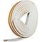 Joint caoutchouc adhésif profil P Diall blanc L.24 m