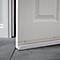 Bas de porte sol irrégulier Diall blanc L.93 cm