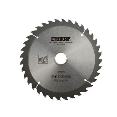 Lame de scie circulaire pour le bois Medium Erbauer ø165x20/16 mm