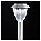 Balise solaire à piquer LED BLOOMA chrome H.52 cm