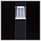 Balise solaire à piquer LED BLOOMA Carré noir H.38 cm