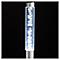 4 balises solaires à piquer chrome H.40,6 cm