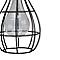 Lanterne solaire LED noir
