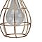 Lanterne solaire décorative LED Cage doré