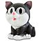 Lampe solaire décorative LED chat noir