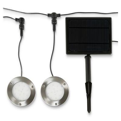 2 spots à encastrer LED Blooma Opheim IP67 chrome 2 x 0 75W