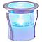 6 spots solaires à encastrer LED Blooma Hattan chrome lumière bleue