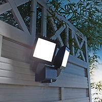 Projecteur à détection LED Blooma Parksville noir 30W IP44