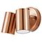 Applique 2 têtes LED BLOOMA Candiac cuivre