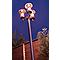 Lampadaire 3 têtes Blooma Chignik chrome H.200 cm