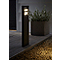 Potelet LED BLOOMA Noatak noir H.62 cm