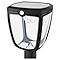 Potelet solaire à détection LED Seldovia disco noir H.65,3 cm