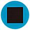 Balise solaire à piquer turquoise H.36,5 cm