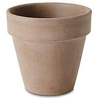 Pot rond terre cuite Verve Laleh foncé ø11,2 x h.10 cm