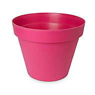 Pot rond plastique Blooma Nurgul rose ø58 x h.52 cm