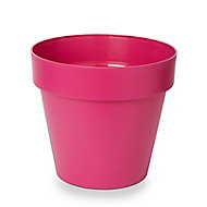 Pot rond plastique Blooma Nurgul rose ø40 x h. 36 cm