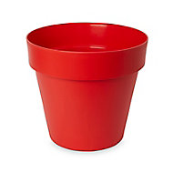Pot rond plastique Blooma Nurgul rouge ø40 x h. 36 cm
