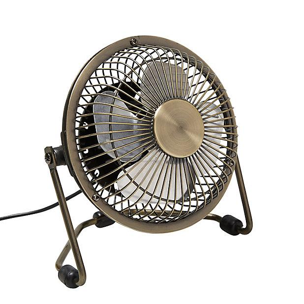 Mini Ventilateur Cuivre O 9 Cm Avec Prise Usb Castorama