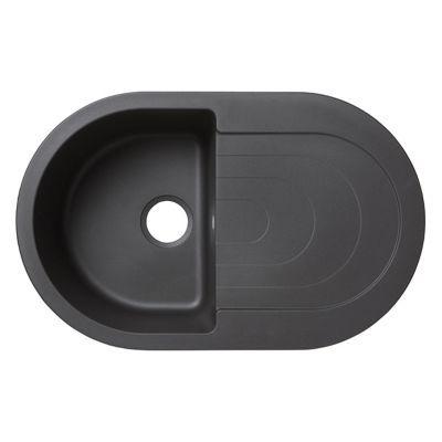 Évier à encastrer granit noir Agnesi, 1 bac - Nom du modèle : Agnesi - Matière principale : Granit - Finition : Lisse - Coloris : Noir - Largeur (cm) : 50 - Longueur (cm) : 79 - Profondeur (cm) : 21,3 - Dimensions encastrement (cm) : L. 76 x P. 45 - Nombr