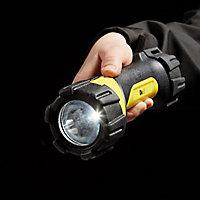 Lampe torche LED caoutchoutée usage intensif Diall 50 lumens