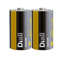 Pile alcaline Diall D-LR20- Pack de 2