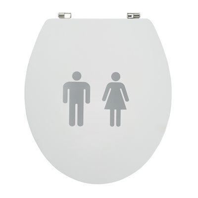 Abattant WC décor homme/femme COOKE & LEWIS Nosara
