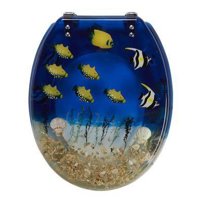 Abattant WC plastique décor océan COOKE & LEWIS Andrano