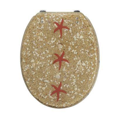 Abattant WC plastique décor étoile de mer COOKE & LEWIS Andrano