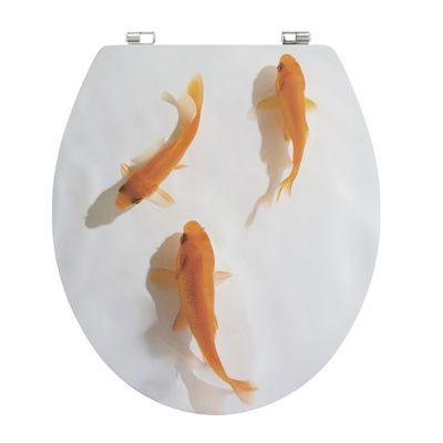 Abattant WC décor poisson rouge COOKE & LEWIS Nosara