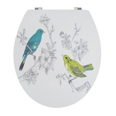 Abattant WC décor oiseaux COOKE & LEWIS Nosara