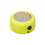 Lampe LED magnétique ronde jaune Diall 75 lumens