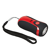 Lampe torche dynamo rouge Diall 11 lumens