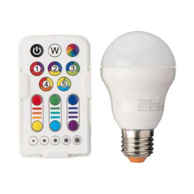 Ampoule LED GLS E27 7 5W=40W blanc chaud & RVB