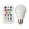Ampoule LED GLS E27 7,5W=40W blanc chaud & RVB