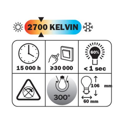 Ampoule LED Diall B22 7 2W=60W blanc chaud