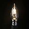 3 ampoules halogène flamme B22 30W=40W blanc chaud