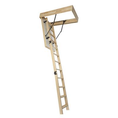escalier escamotable mac allister en bois avec trappe de. Black Bedroom Furniture Sets. Home Design Ideas