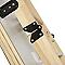 Escalier escamotable MAC ALLISTER en bois avec trappe de 60cm, ép.76 mm