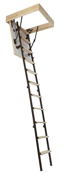 Escalier Escamotable En Bois Pour Espace Restreint Mac Allister Trappe De 60 Cm Castorama