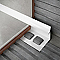 Profile 1/4 rond PVC int 6 mm Blanc