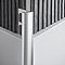 Profile 1/4 rond Alu ano Mat 9 mm